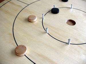 Tilannekuva Crokinole-pelistä