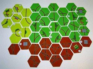 Pelin ratalaattojen valikoima. Kuva: Bart van Dijk / BGG