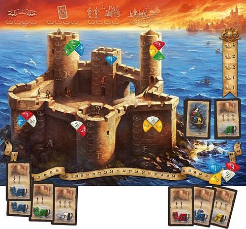 Monte Criston pelilauta, kortteja ja aarteita. Kuva: Filosofia Games