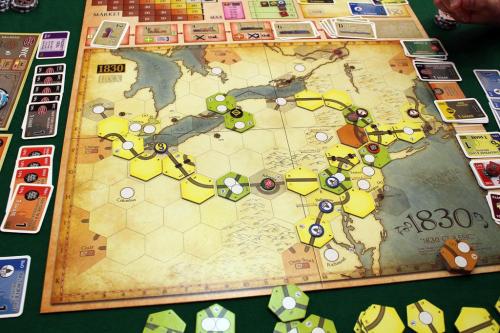 1830-peli käynnissä. Kuva: Duarte Conceicao / BGG