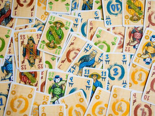 Stich-Meisterin kortteja. Kuva: Mikko Saari