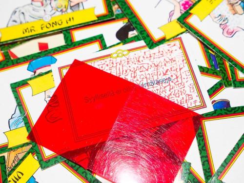 Pekingin mysteerin vihjekortti. Kuva: Mikko Saari