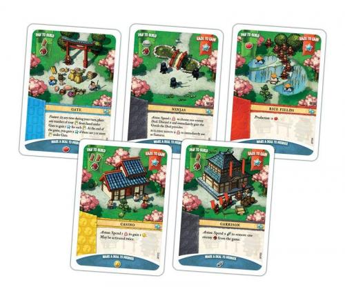 Japanilaisten kortteja. Kuva: Portal Games